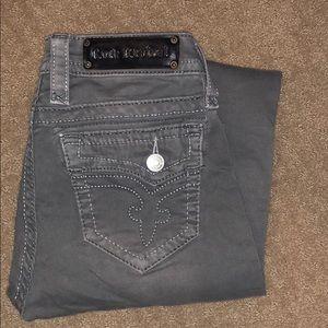Gray Rock Revival skinny jeans